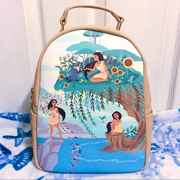 NWT 🌻 Loungefly Pocahontas Scenery Backpack